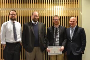 From Left: Jeffery Mallinson, Aaron Pederson, Jordan Cooper and Scott Keith